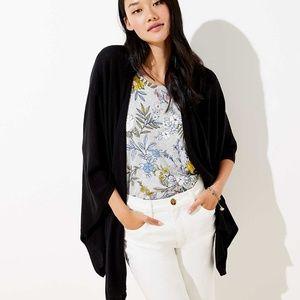NWT LOFT  Black Travel Wrap / Open Kimono
